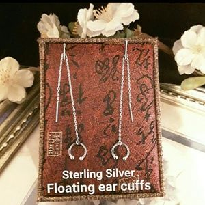 Jewelry - NEW S925 Cuff Thread Dangle Earrings